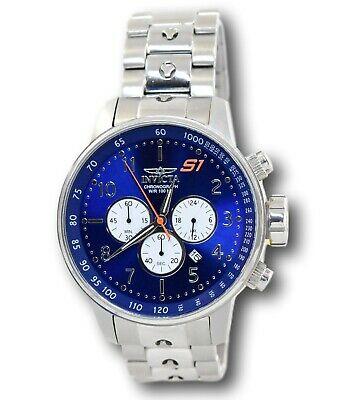 Invicta S1 Rally 23080 GPX Blue Dial Quartz Stainless Chronograph Watch 48mm
