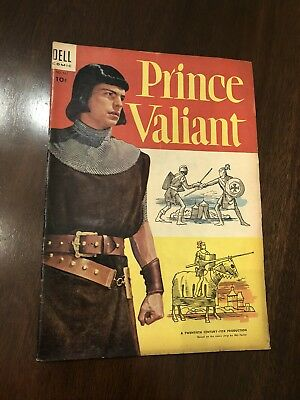 Prince Valiant #1 Four Color #567 Robert Wagner Movie Photo cover Dell 1954 5.5