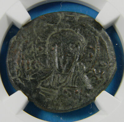 Byzantine Empire Anonymous issue (AD 1075-1081) AE follis - Class A1 NGC VF