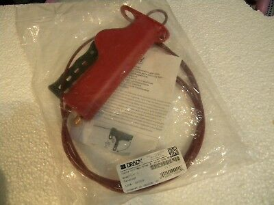"(3) pc. Brady All Purpose Cable Lockout 8"" New Y4300988"