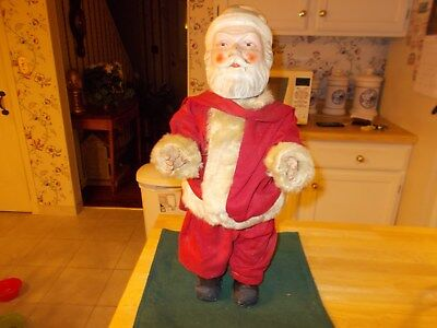 Rare And Hard To Find Composition Santa Doll From The Early 1900S Santa Suit Out