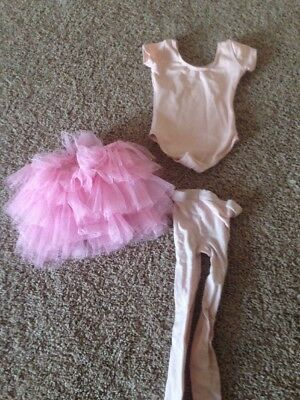 Capezio Outfit Tights,bodysuit Tuttu Girls Toddler Small Girls