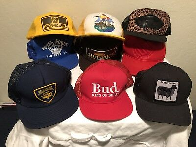 LOT OF 9 Trucker Style Snapback Hats Vintage 80's 90's Modern Bud Light  Vans CHP 26d1648647a
