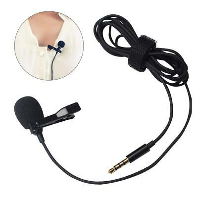 New Clip-on Lapel Mini Lavalier Mic Microphone For iPhone Smart Phone Recording