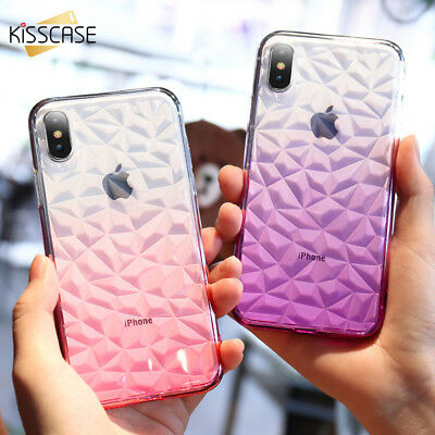 3D Diamond Pattern Phone Case For iPhone X 7 8 6 6s Plus Luxury Soft TPU Cover