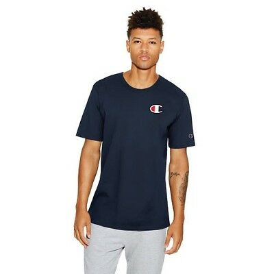 4e59ef66 Brand New Champion Heritage Tee Large Chest C Logo Navy T-Shirt Small Mens