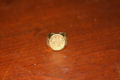 Vintage American Airlines Brass Junior Stewardess Ring IN VERY GOOD CONDITION