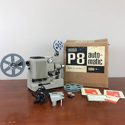 Vintage Eumig P8 Automatic Super 8 Projector 8mm with Box Partly Tested