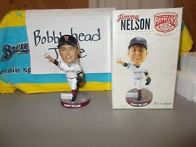 Nib 2018 Jimmy Nelson Timber Rattlers Milwaukee Brewers Bobblehead Sga 8/2/18