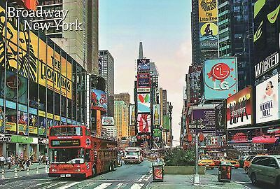 Broadway, Times Square New York City, Bus, Cabs, Mamma Mia, Wicked etc. Postcard