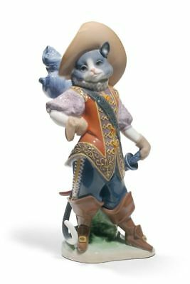 Lladro Puss in Boots Cat 8599 Figurine 01008599 Fantasy New
