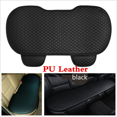1x New 2018 PU Leather Universal Car Seat Cushion Non-slid Rear Back Seat Cover