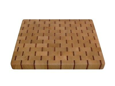 Wooden, Handmade, Cutting Board End Grain with Feet, Butcher Block, Cheese Board