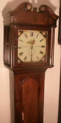 "Antique  Slim  Oak ""  Penrith ""  Longcase / Grandfather Clock"