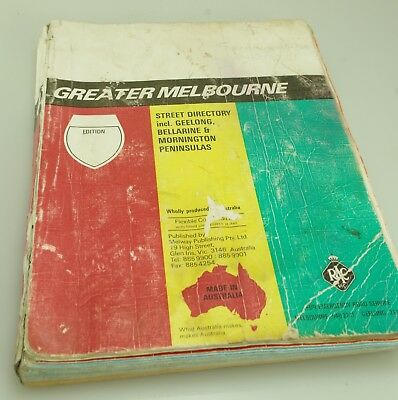 Melway 1990 Greater Melbourne Street Directory Edition 20