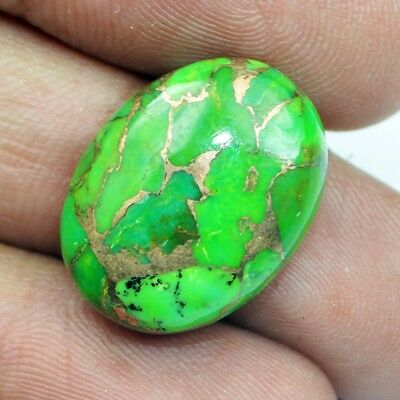 15 Ct Natural Designer Real Green American Copper Turquoise Oval Cabochon BS3