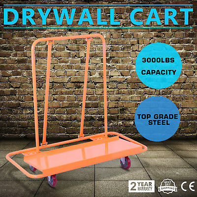 Drywall Cart Dolly Handling Sheetrock Panel Durable Truck Professional Trolley