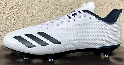 3a830e0d2149b Mens Adidas adizero 5-Star 6.0 Football Cleats Size 12.5 White Navy  (Detachable