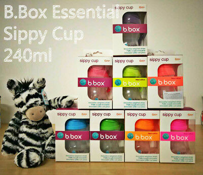 B.Box Essential Sippy Cup 240ml Baby Toddler Feeding Drinking Water Bottle bbox