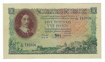 South Africa MH De Kock 3rd Issue 5 Pounds AUnc. JO-5580