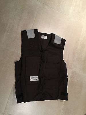 usn life persever vest, new old stock. large brown,1998