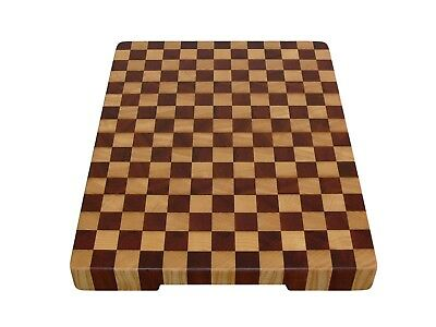 Wood, Handmade, Cutting Board End Grain with Feet, Butcher Block, Chopping Board