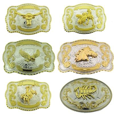 Bull Roosters Eagle Horse Rodeo Scorpion Belt Buckle Western Cowboy New Costume