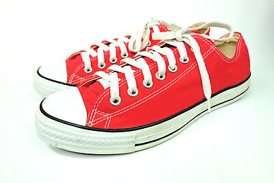 Converse All Star Red Mens US 9.5 Womens 11.5 Chuck Taylor Shoe Sneaker EUC