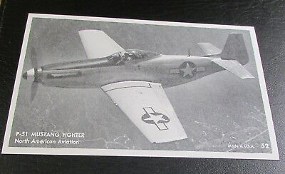 Postcard..<Old Propeller Aircraft> WW2 FIGHTER--< NORTH AMERICAN P-51 MUSTANG >