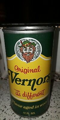 RARE 1960's 70's ?  Vernors Ginger Ale Empty Steel Can with tab  Detroit Mi