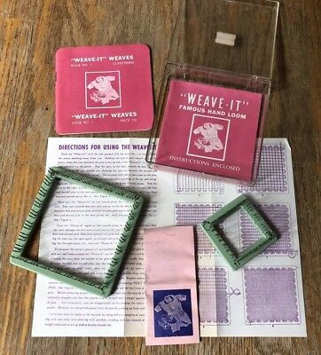 Vintage Donar Weave It 4 Square Hand Loom With 6 Needle