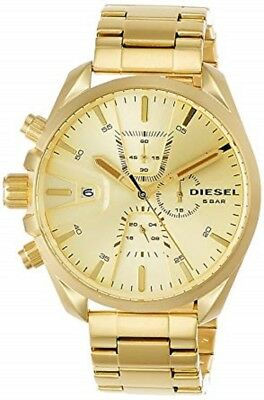 a61bedc30 DIESEL MS9 GOLD-TONE Sunray Dial Chronograph Mens Watch DZ4475 ...