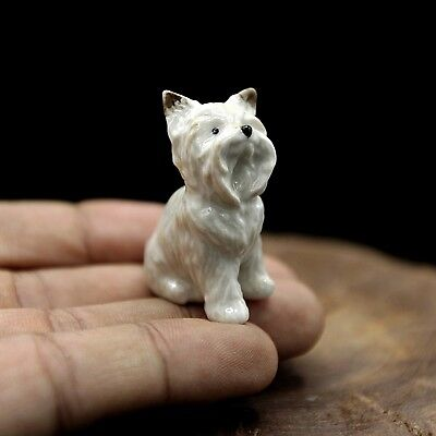 New Westie Terrier Dog Ceramic Figurine Hand Painted Collectibles Art Decor Gift
