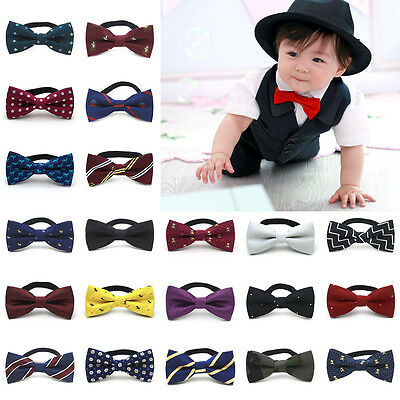 Hot for Children Boys kids Solid Bowtie Pre Ties Wedding Party satin bow tie