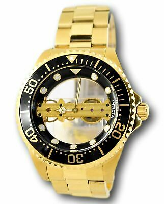 Invicta Pro Diver 24694 Ghost Bridge Gold Plated Mechanical Skeleton Watch