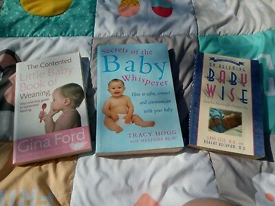 Soothing, sleep & weaning baby books. Gina Ford Tracey Hogg Gary Ezzo RRP £35