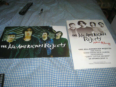 ALL AMERICAN REJECTS-(move along)-1 POSTER-2 SIDED-11X17-NMINT-RARE