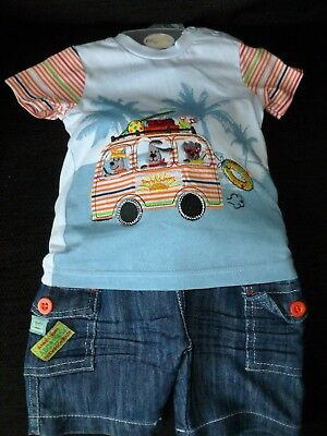 Baby Boys T Shirt & Shorts Set  By Pitter Patter 12 Months nwt