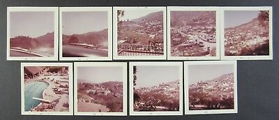 1962 Taxco Mexico Mexican Vacation Photos Lot of 9 vintage snapshots
