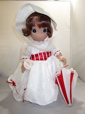 """New Precious Moments Large 18"""" Mary Poppins Doll Disney White Dress New with Tag"""