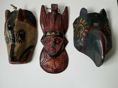 3 African Style Masks 1 Senufo
