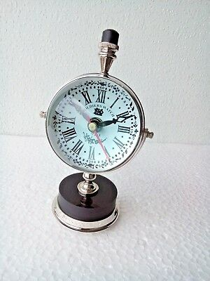3' DeskTop Antique Clock  Nautical Home Office Decor