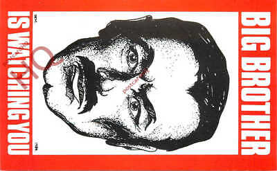 Picture Postcard-:Big Brother Is Watching You, 1984 By George Orwell [Veldale]