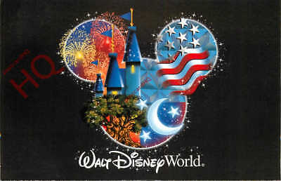 Picture Postcard-:Walt Disney World, Mickey Mouse Design