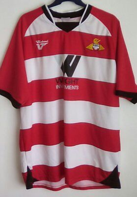 Doncaster Rovers home football shirt, soccer jersey mens (XL) Yorkshire, England