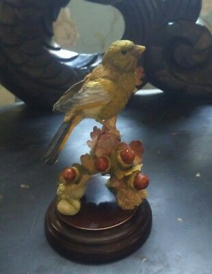 Country Artists 01989 Green Finch With Acorns By Andrew MacCallum Hand Painted