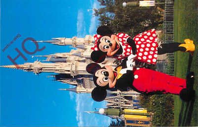 Picture Postcard~ Walt Disney World, Mickey And Minnie Mouse At Magic Kingdom