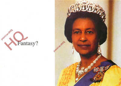 Picture Postcard--Queen Elizabeth Ii, Black, Fantasy? [Art Of Thought]