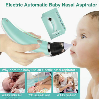Newborn Baby Nasal Aspirator Electric Nose Cleaner Safe Sniffling Sucker Childs