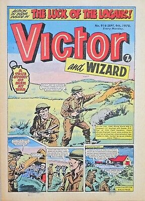 VICTOR & WIZARD - 9th SEPT 1978 (4 - 10 Sept) RARE 40th BIRTHDAY GIFT !! FINE